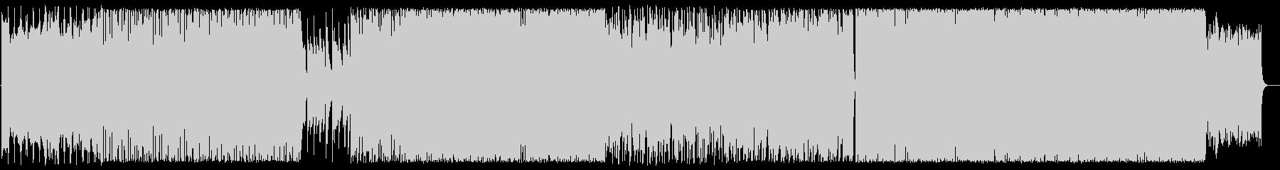 ピアノとノイズ/強めのビート/攻撃的の未再生の波形