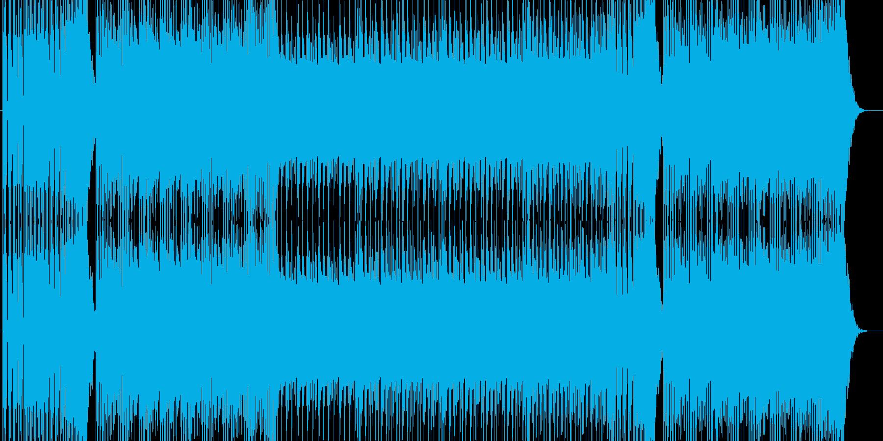 シンプルなベースサウンドの再生済みの波形