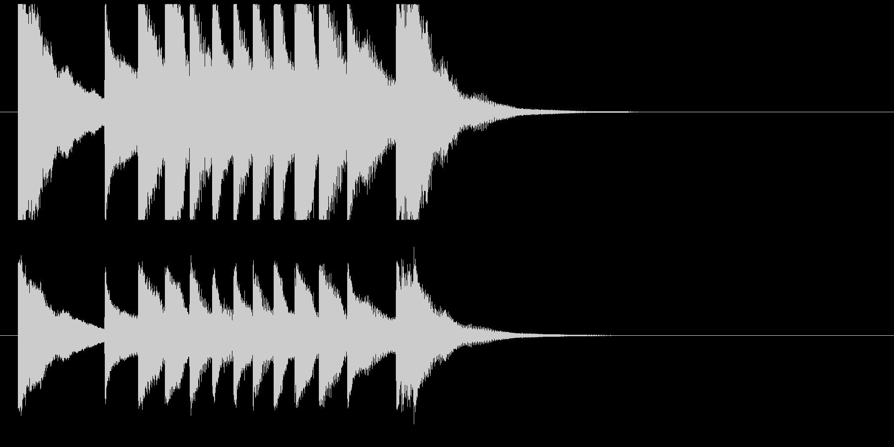聞き馴染みのある和風・正月系ロゴ(D)の未再生の波形