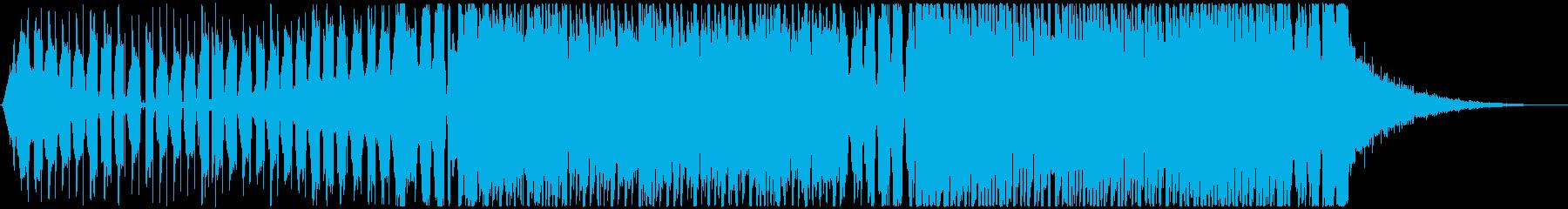 e-sports大会のOPっぽいEDM曲の再生済みの波形
