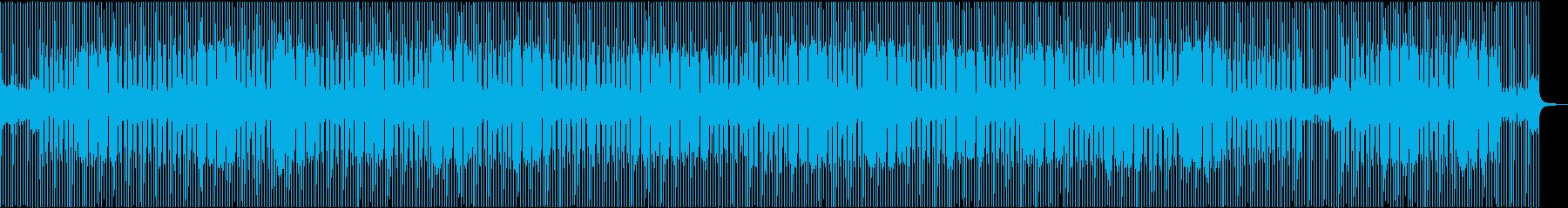 汎用性の高い4つ打ちダンス曲の再生済みの波形