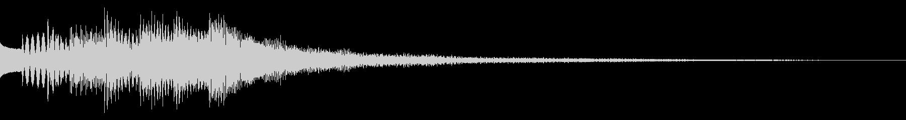キラキラリン 明るく安心感のある効果音の未再生の波形
