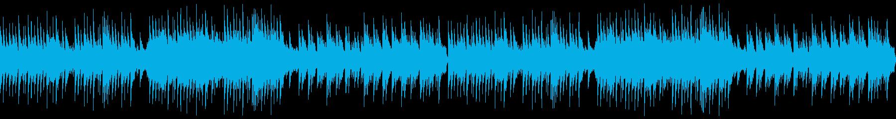 ゆったり優美な和風曲 (ループ)の再生済みの波形