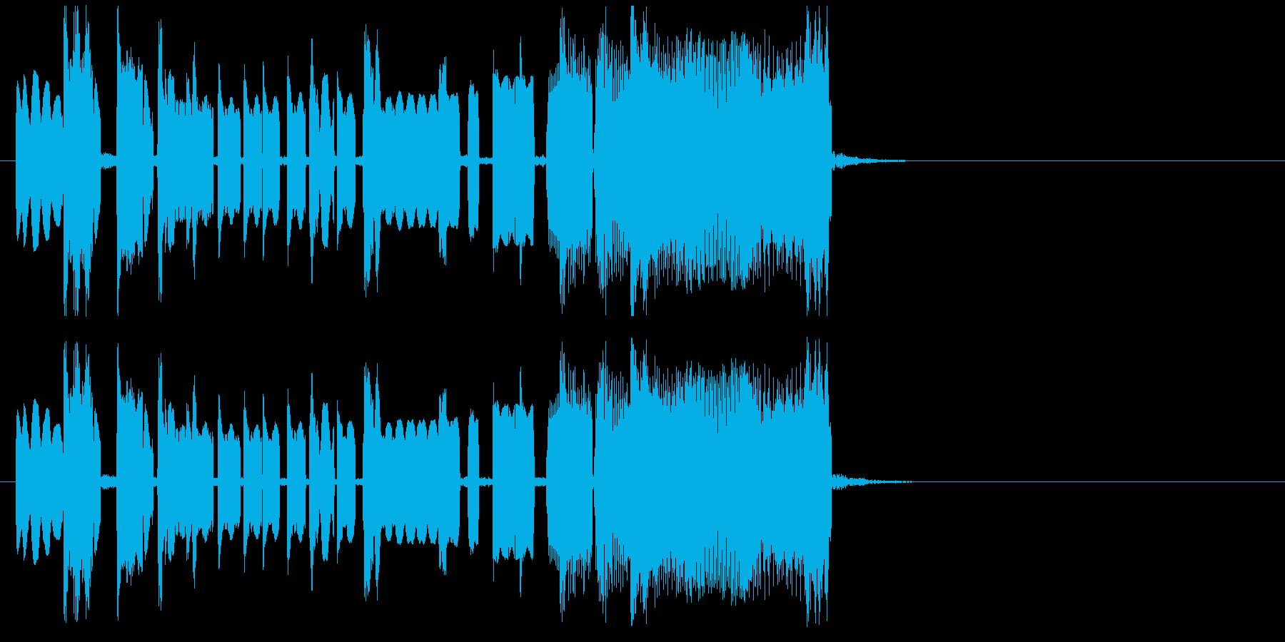 ポップでマイナーなジャズ風ジングルの再生済みの波形