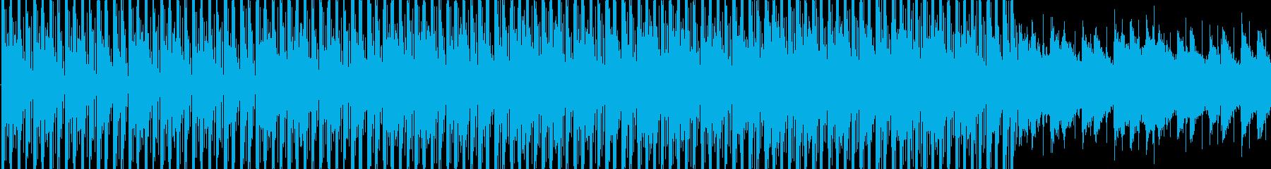 爽やかな空のイメージのBGM_LOOPの再生済みの波形
