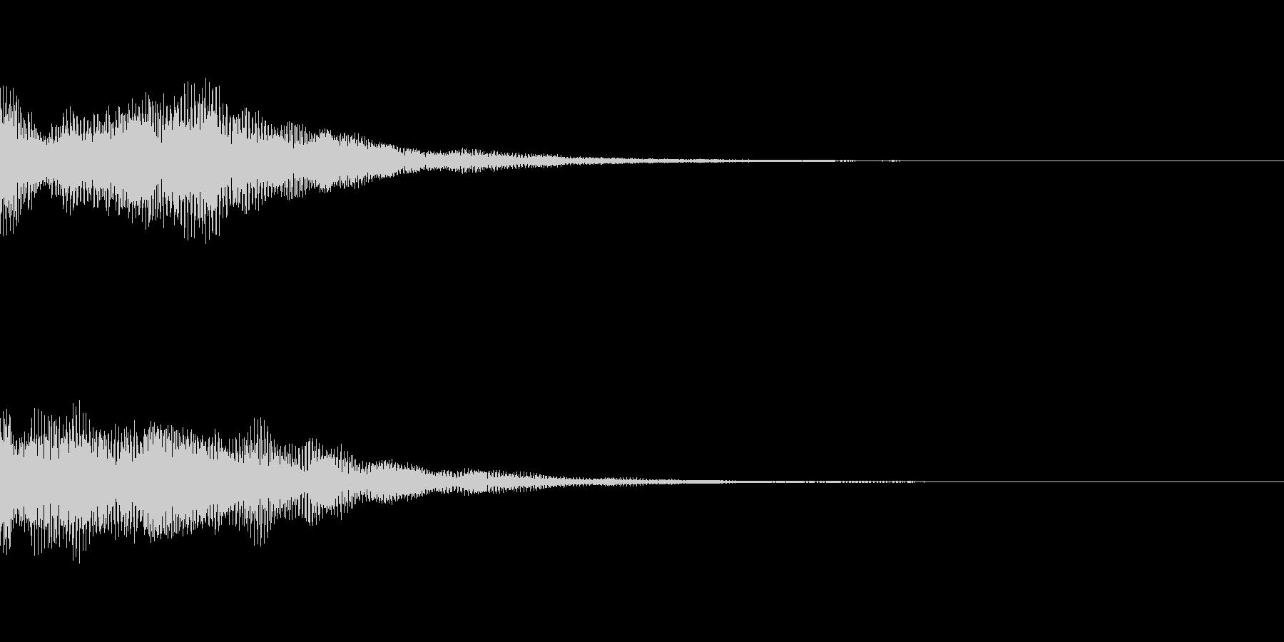 スロットリールランダムスピン再生音の未再生の波形