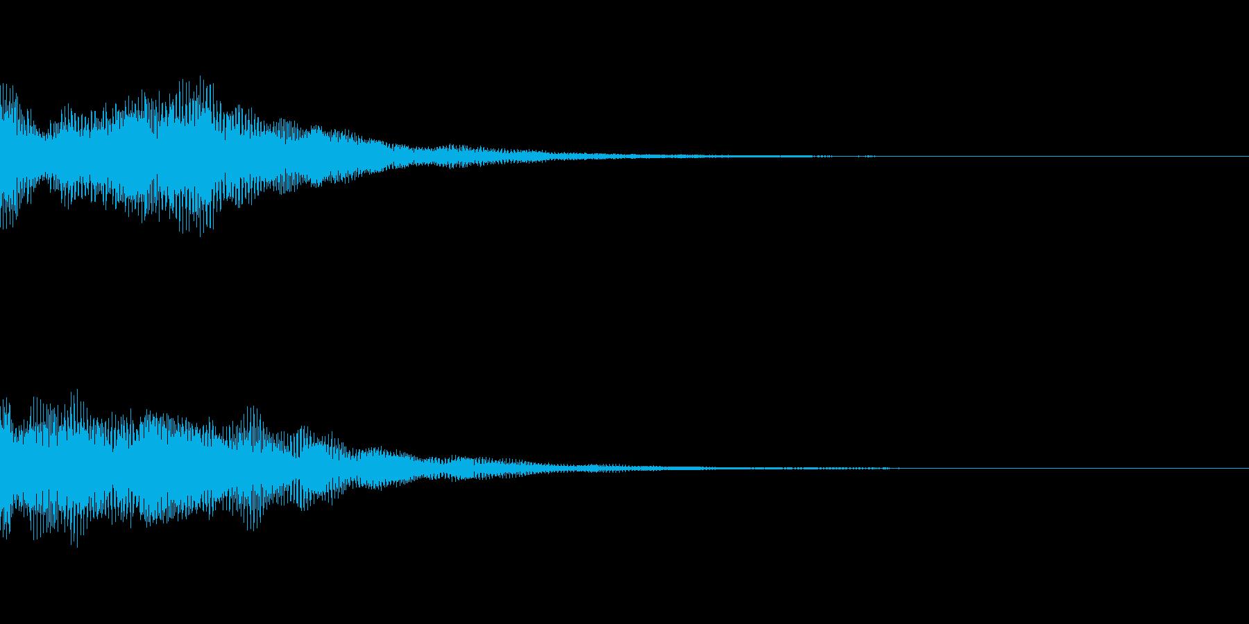 スロットリールランダムスピン再生音の再生済みの波形