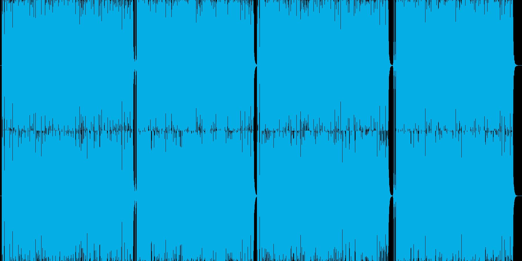 炸裂する疾走感、ヘビーでタイトなロックの再生済みの波形