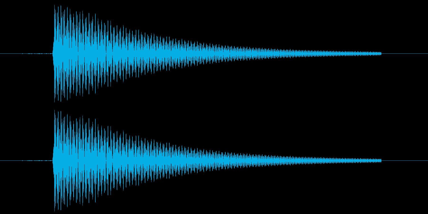 フライパンの音の再生済みの波形