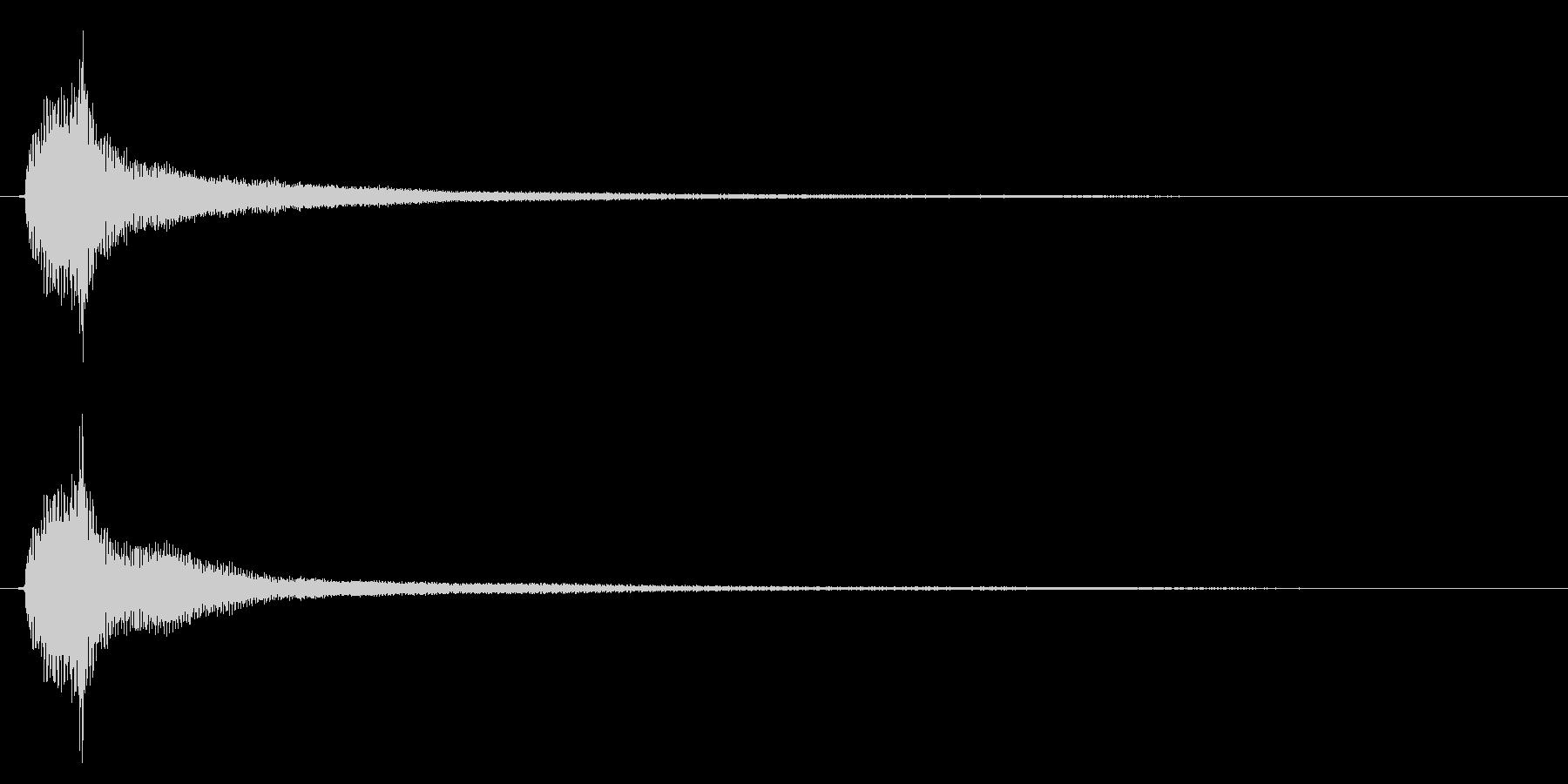 アコギのハーモニクス/ポーン(残響長め)の未再生の波形