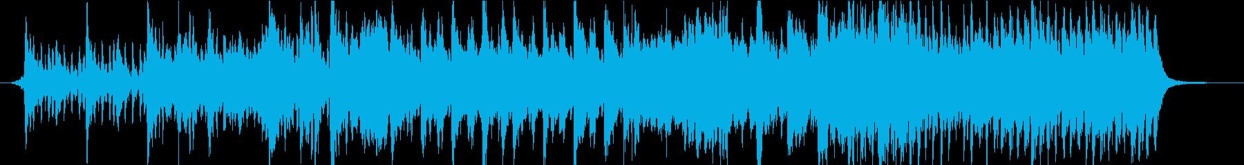駆け出すようなCM映像向けオーケストラの再生済みの波形