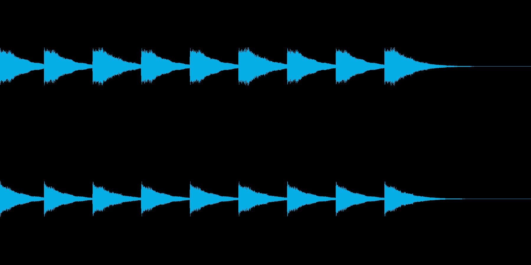 シンプルな教会の鐘の音ですの再生済みの波形