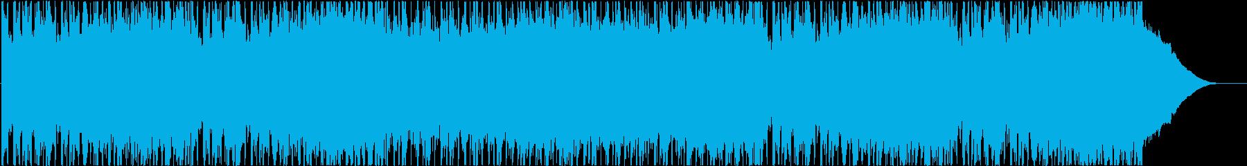 ポジティブ、ハードロック、グラムロックの再生済みの波形