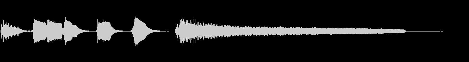 かわいいサウンドロゴ 笛とギターの未再生の波形