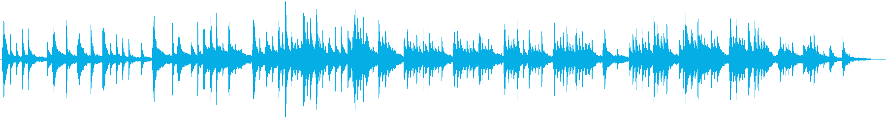 静かなピアノソロ 良い感じの再生済みの波形