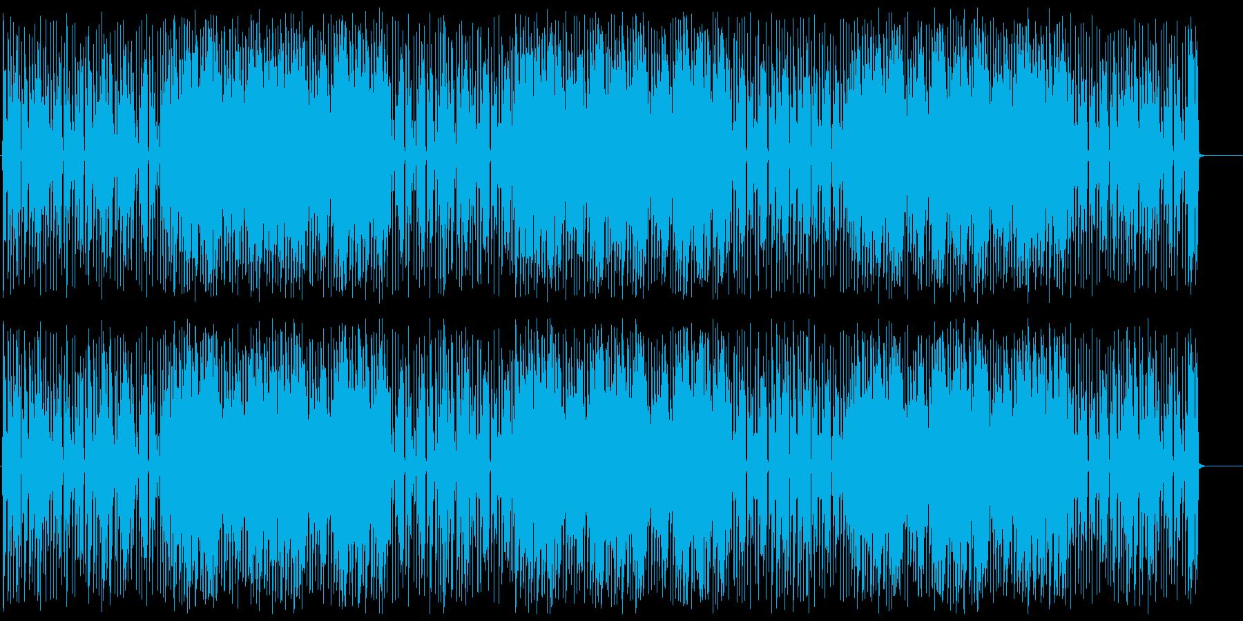 ポップでかわいいテクノの再生済みの波形