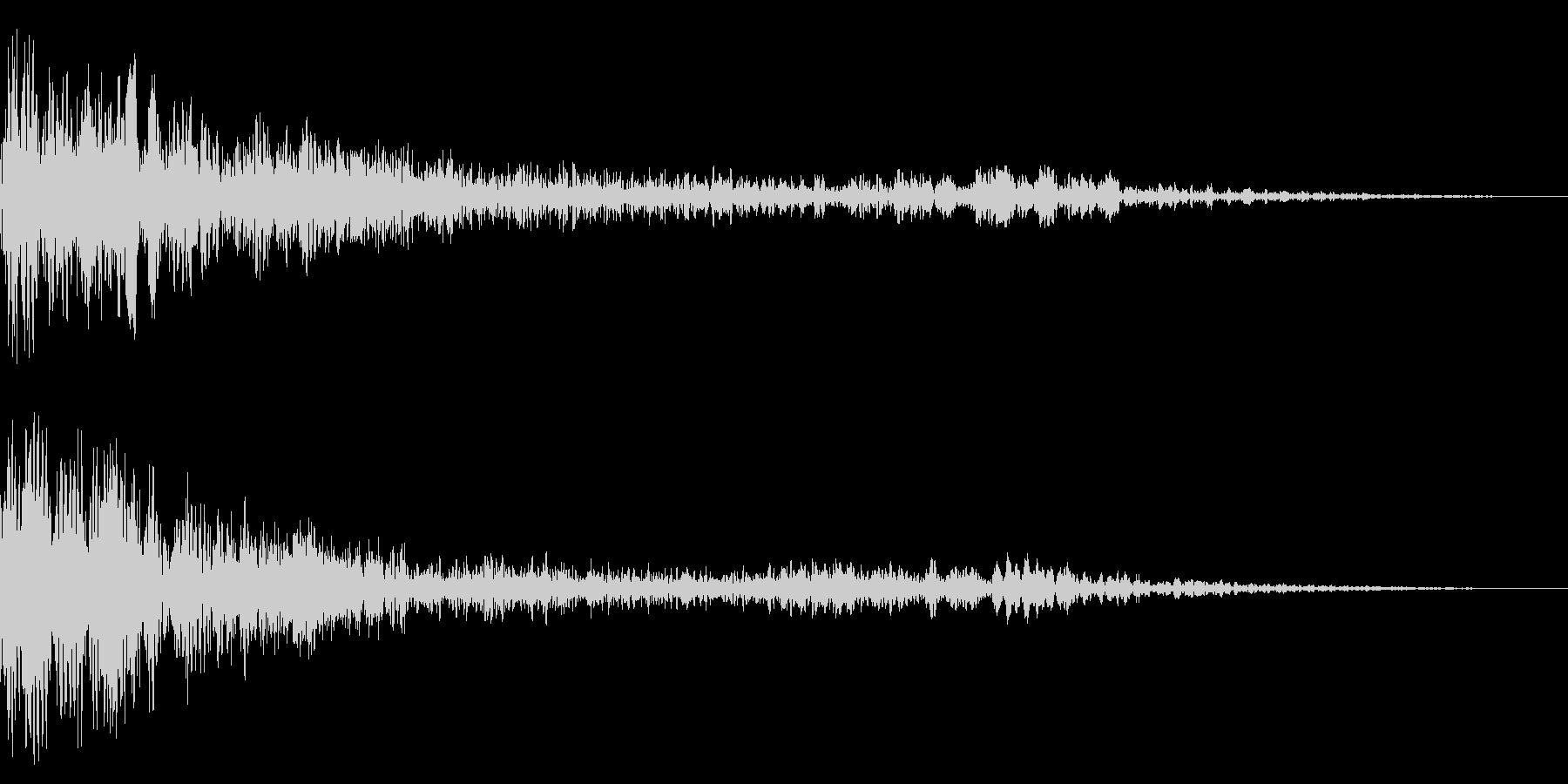 ホラー系アタック音29の未再生の波形