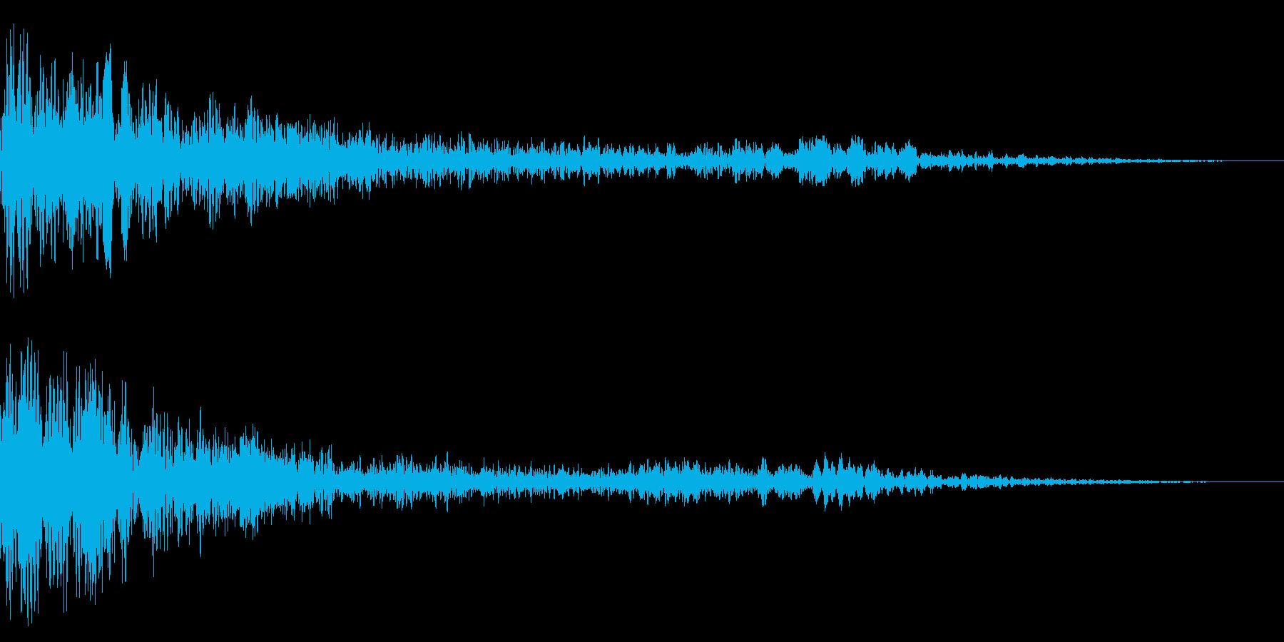 ホラー系アタック音29の再生済みの波形