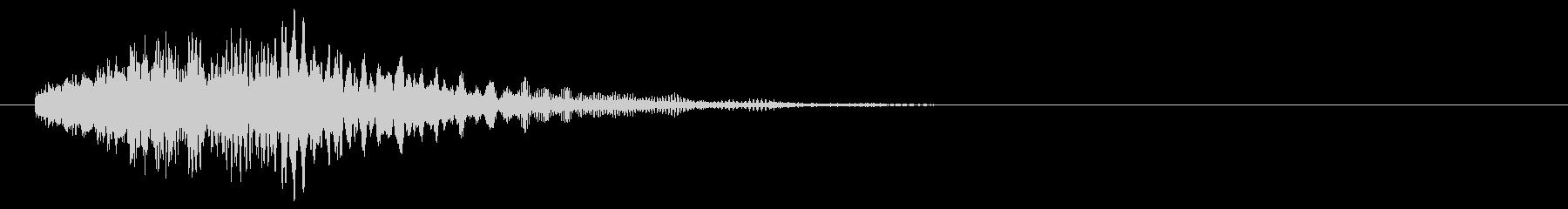 静的な下降の未再生の波形