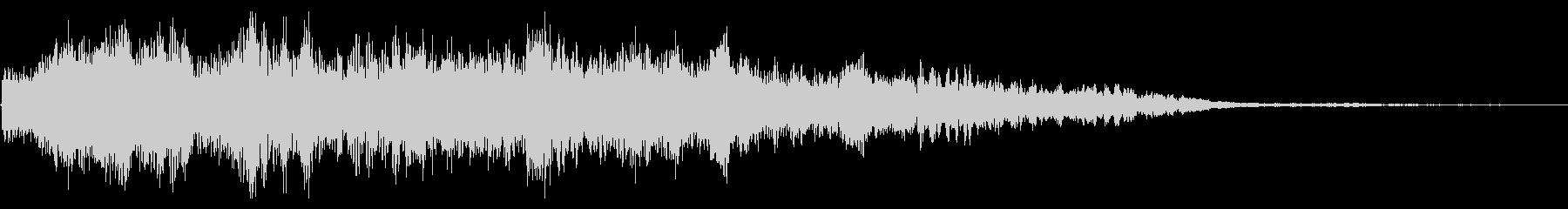 ゲーム機の起動音サウンドの未再生の波形