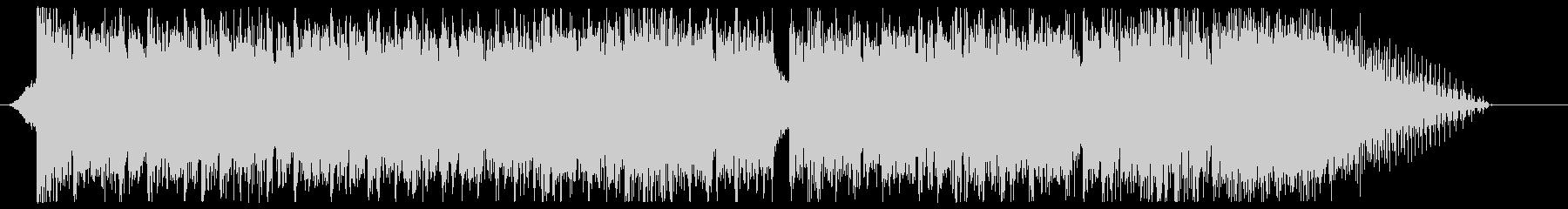 デジタルなエピックロックのサウンドロゴの未再生の波形
