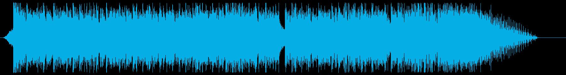 デジタルなエピックロックのサウンドロゴの再生済みの波形