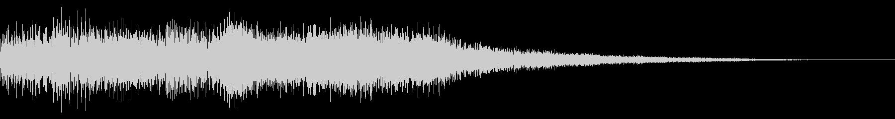 サイバーなゲーム音 ゲームオーバーの未再生の波形