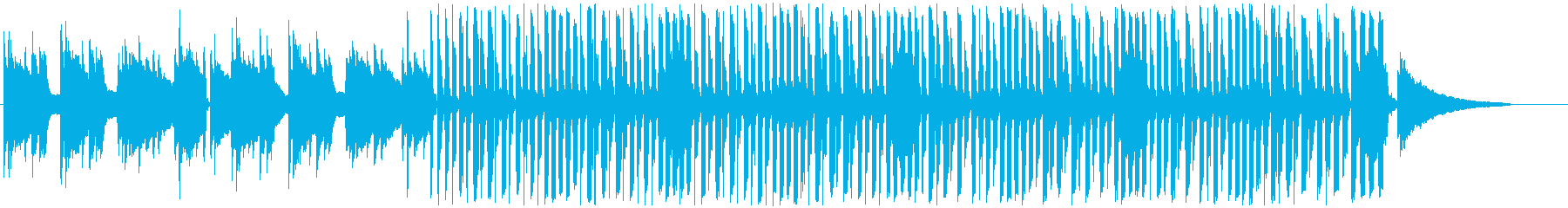 のんびり・まったりとしたBGM・ショートの再生済みの波形