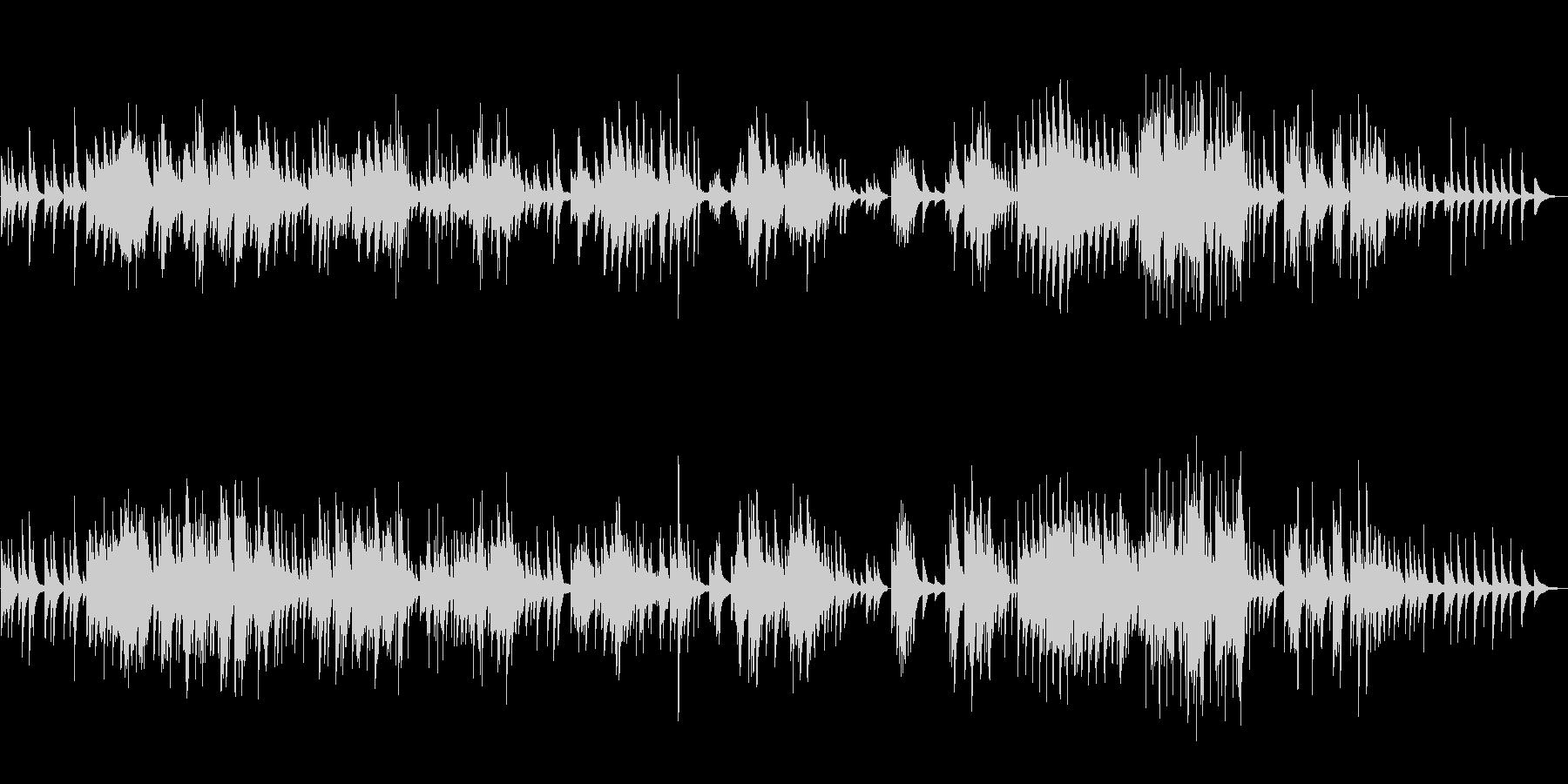 ピアノソロ楽曲です。24bit,48k…の未再生の波形