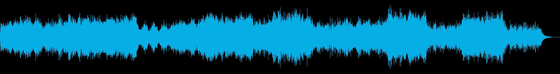 明るいファンタジーイメージの管弦楽曲の再生済みの波形