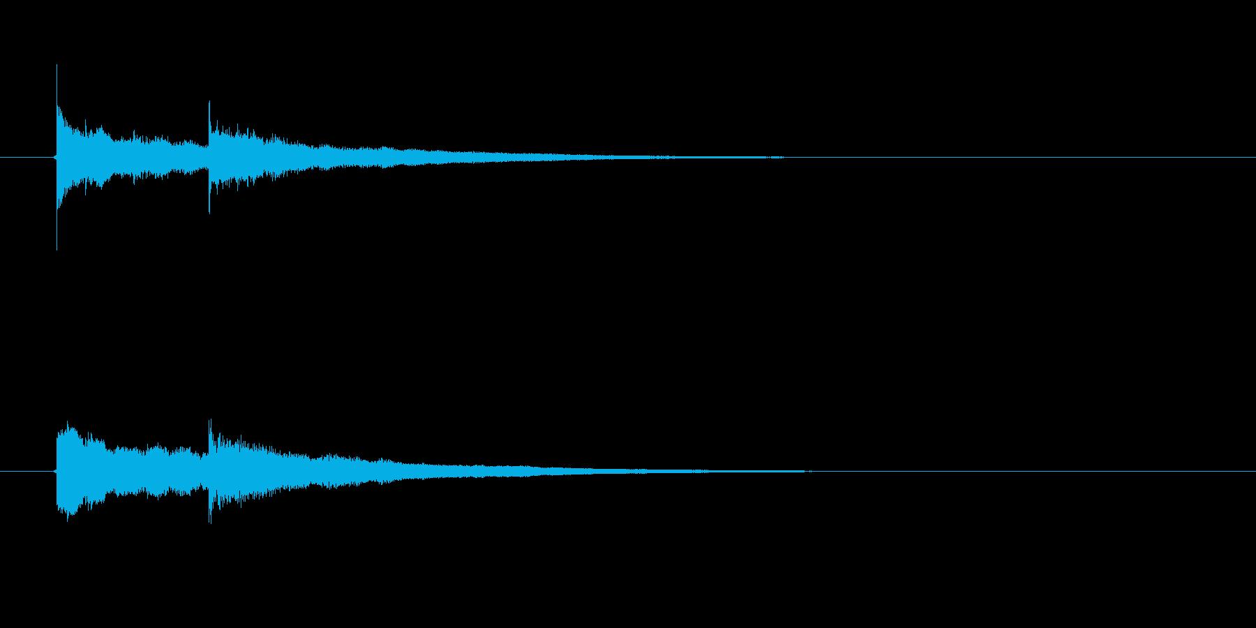 正解! シソミの再生済みの波形