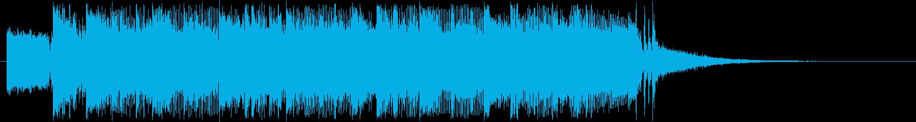 疾走感のギターバンドジングル短めの再生済みの波形
