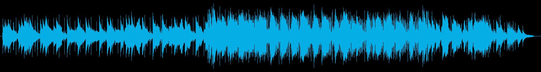 ゆったり明るめのメロディーのリコーダー曲の再生済みの波形