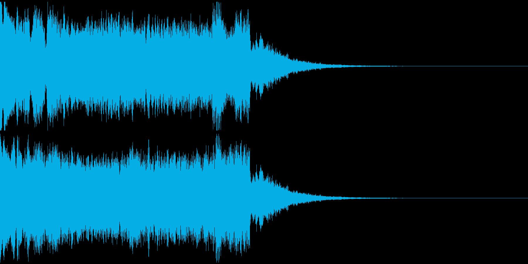 ダークなサイレン音の再生済みの波形