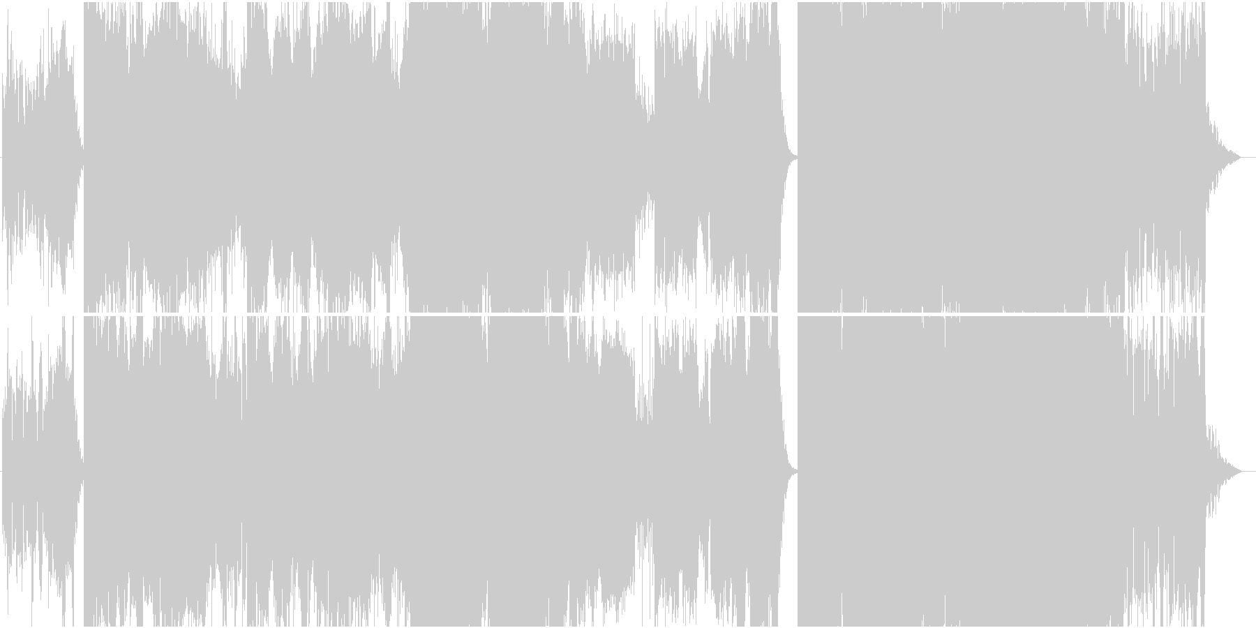 バイオリンを主旋律にしたエレクトロニカの未再生の波形