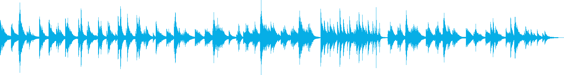 夕暮れに染まる街 (ピアノ・落ち着く)の再生済みの波形