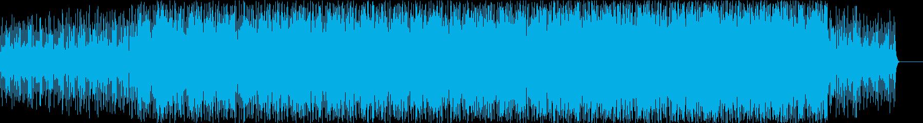 時間の流れを音楽にしてイメージしたBGMの再生済みの波形