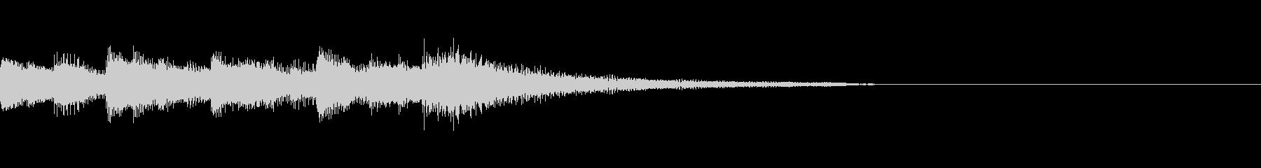 場面転換時のような感じのジングルの未再生の波形