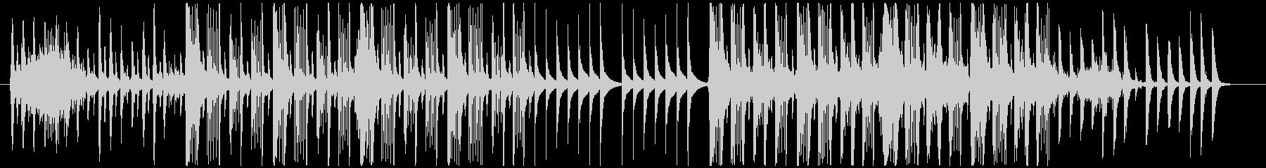 ピタゴラスイッチ風の不思議でコミカルな曲の未再生の波形