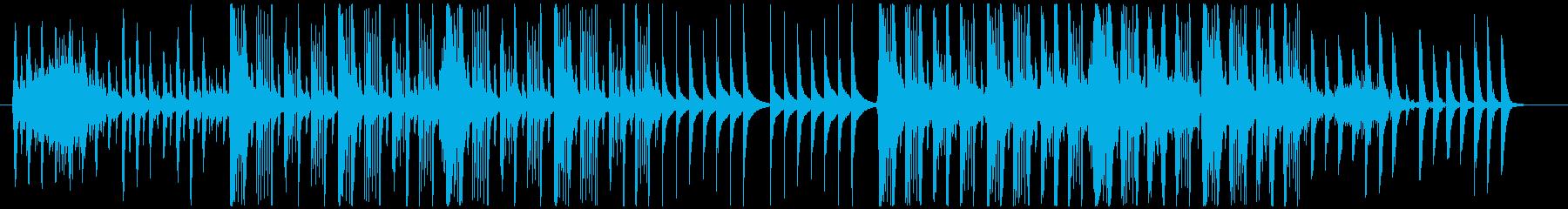 ピタゴラスイッチ風の不思議でコミカルな曲の再生済みの波形