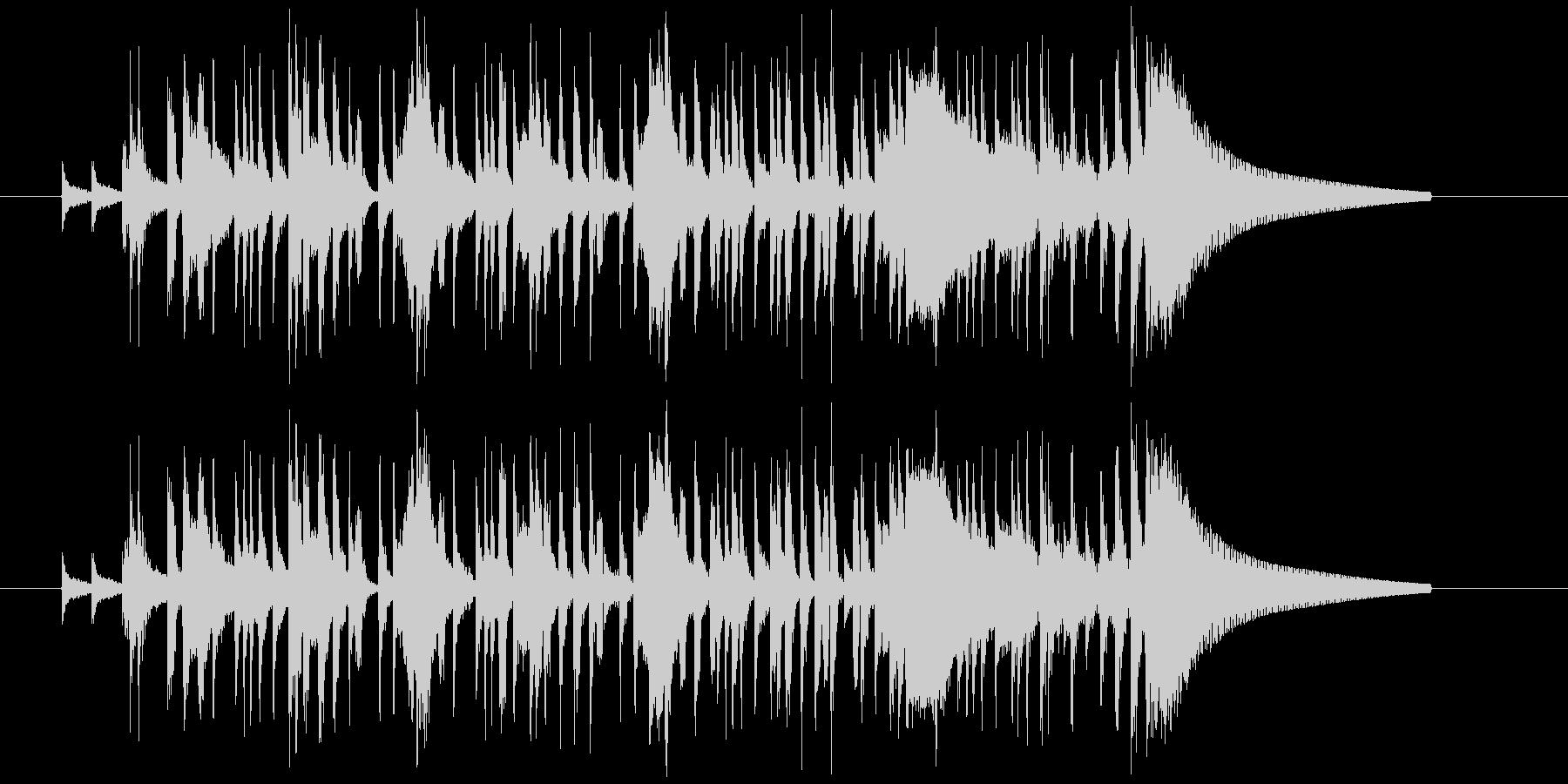 サンプリングの猫の声を使ったジングルの未再生の波形