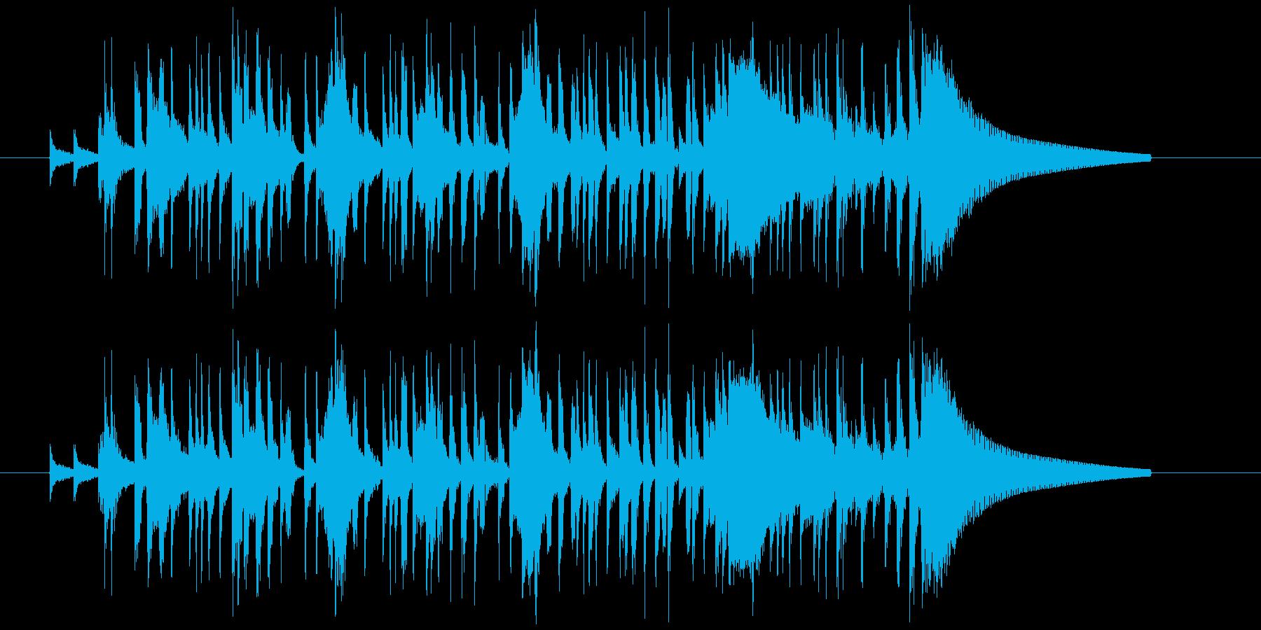 サンプリングの猫の声を使ったジングルの再生済みの波形