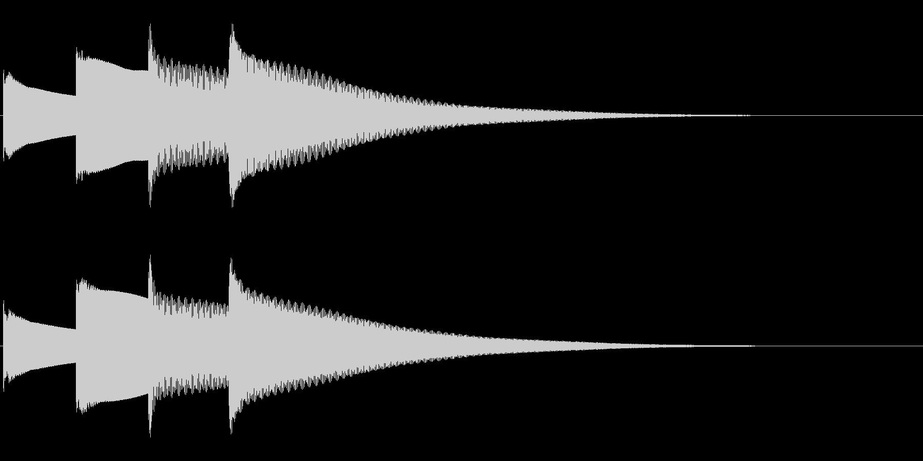 アナウンス後 チャイム-5_dryの未再生の波形