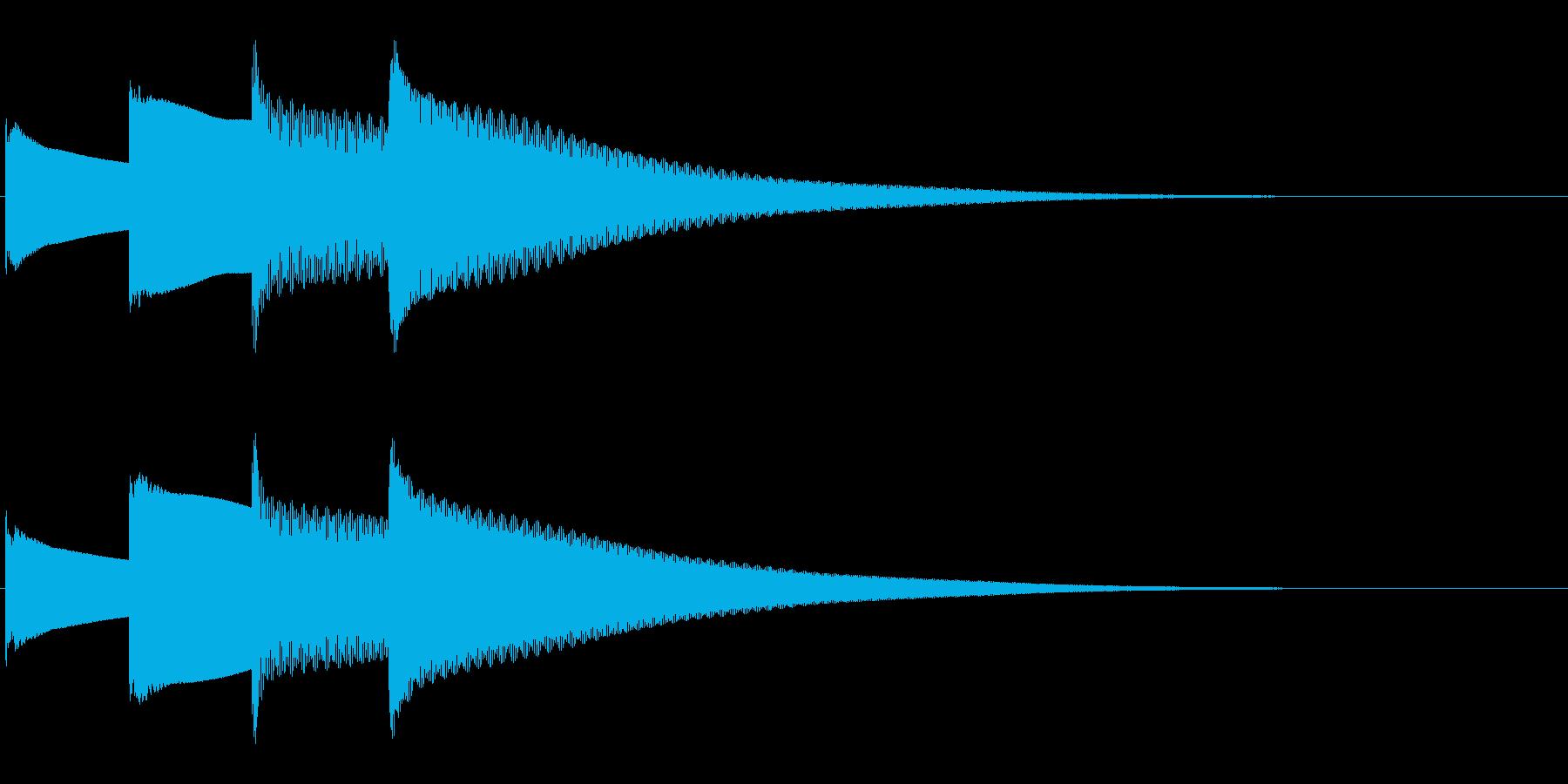 アナウンス後 チャイム-5_dryの再生済みの波形
