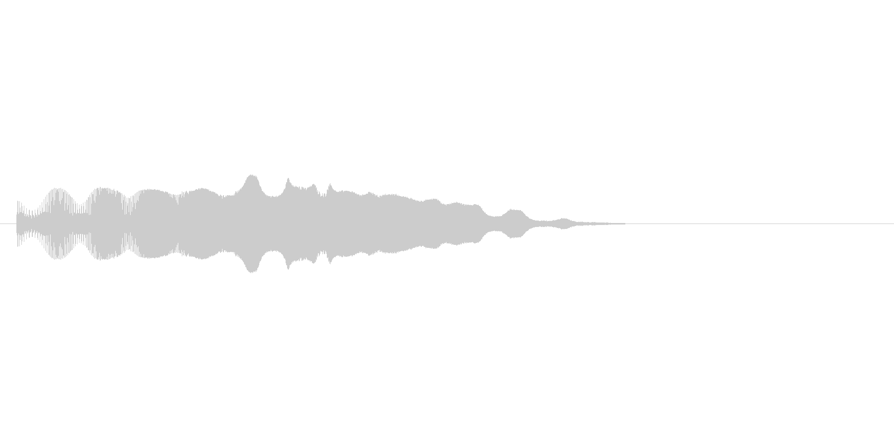 8bitのボヨヨヨヨ↑の未再生の波形