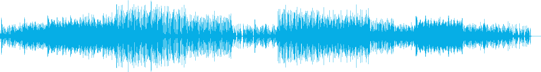 FunkなGtをテクノ風にMixした曲の再生済みの波形