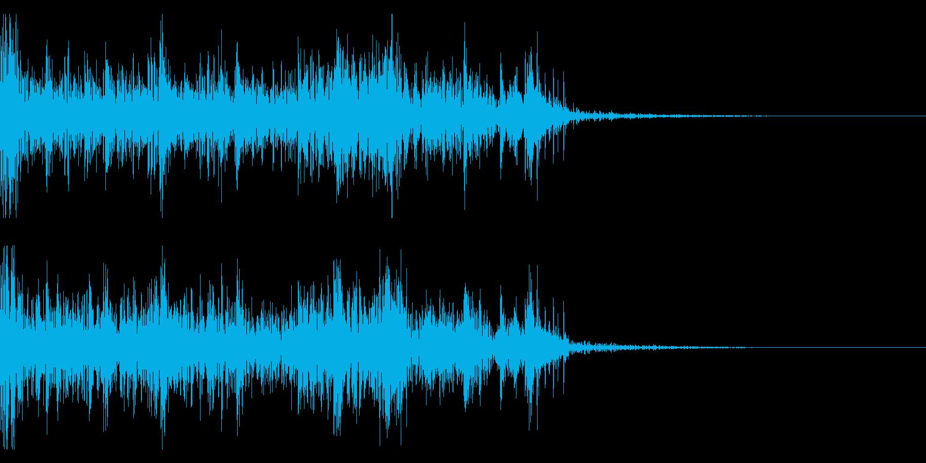 ドーン!パチパチ!連続花火の効果音!04の再生済みの波形