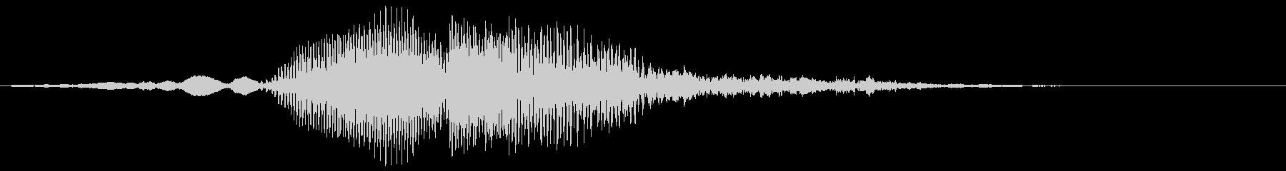 カラス 1回鳴きの未再生の波形