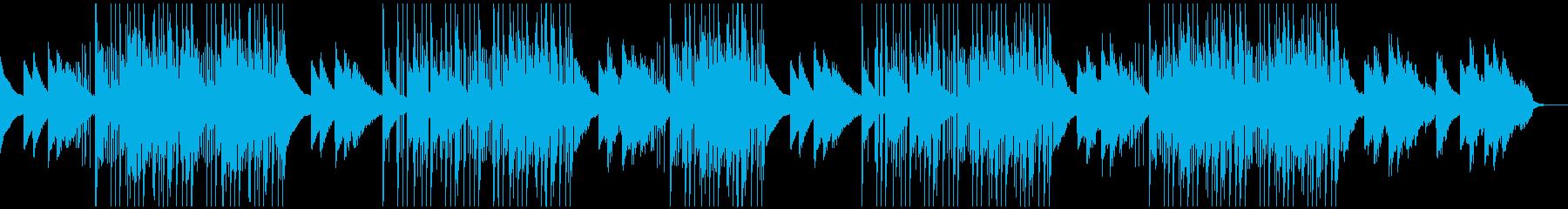 ダークでメロディックな洋楽トラップビートの再生済みの波形