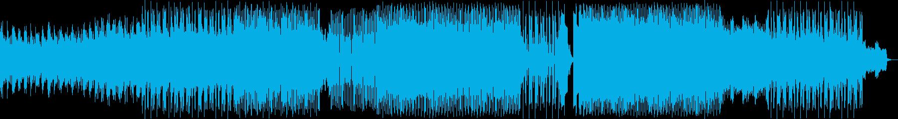 変則で空気感、浮遊感のあるテクノビートの再生済みの波形